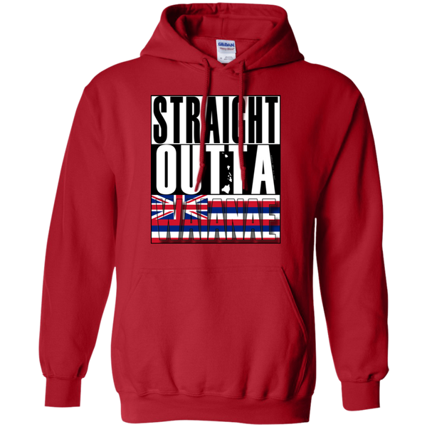 Straight Outta Waianae Hawai'i Pullover Hoodie, Sweatshirts, Hawaii Nei All Day