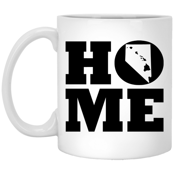 Home Roots Hawai'i and Nevada White Mug, Apparel, Hawaii Nei All Day