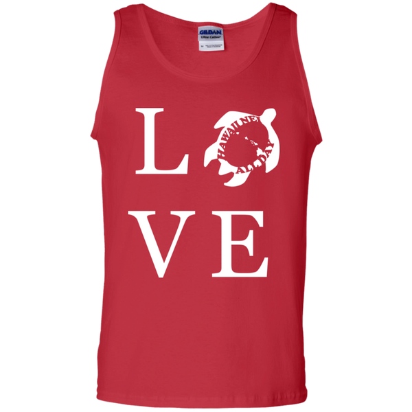 Honu LOVE (white) 100% Cotton Tank Top, T-Shirts, Hawaii Nei All Day