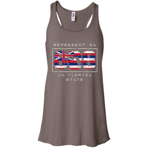 Represent Da 808 In Florida State Bella+Canvas Flowy Racerback Tank, , Hawaii Nei All Day, Hawaii Clothing Brands