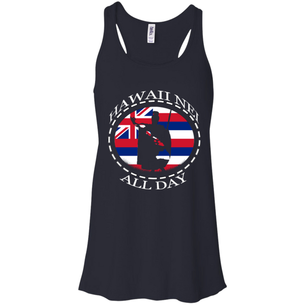 The Rising Sun  Bella + Canvas Flowy Racerback Tank, T-Shirts, Hawaii Nei All Day, Hawaii Clothing Brands