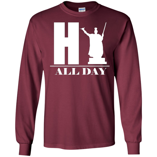HI ALL DAY LS Ultra Cotton Tshirt, Long Sleeve, Hawaii Nei All Day, Hawaii Clothing Brands