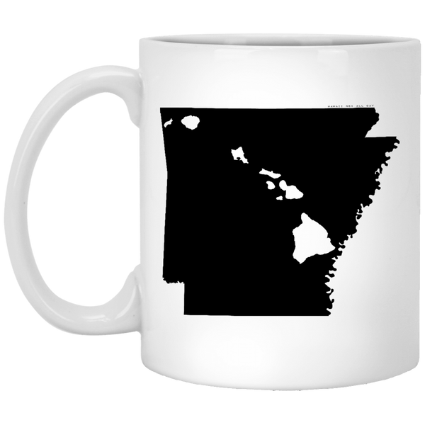 Arkansas and Hawaii Roots White Mug, Apparel, Hawaii Nei All Day
