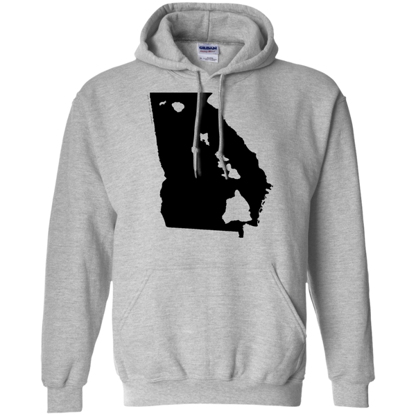 Living in Georgia with Hawaii Roots Pullover Hoodie 8 oz., Sweatshirts, Hawaii Nei All Day, Hawaii Clothing Brands