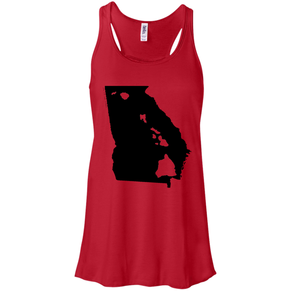 Living in Georgia with Hawaii Roots Bella + Canvas Flowy Racerback Tank, T-Shirts, Hawaii Nei All Day