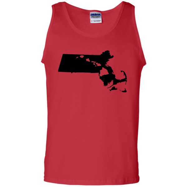 Living in Massachusetts with Hawaii Roots 100% Cotton Tank Top, T-Shirts, Hawaii Nei All Day
