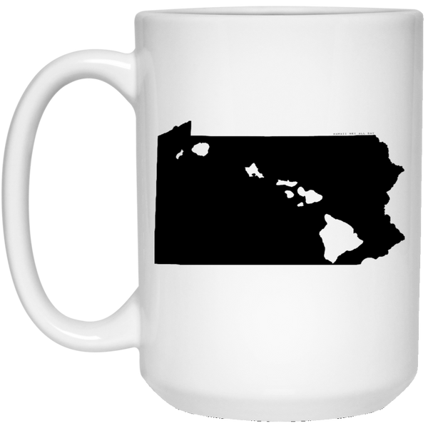 Pennsylvania and Hawaii Roots White Mug, Apparel, Hawaii Nei All Day