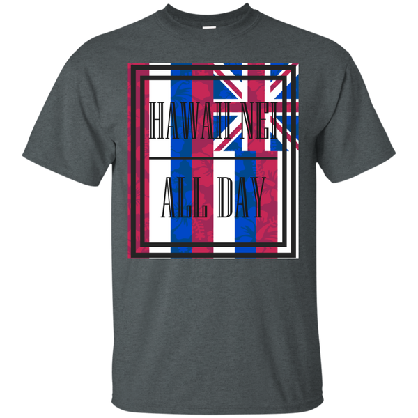 Hawai'i Floral Flag Ultra Cotton T-Shirt, T-Shirts, Hawaii Nei All Day, Hawaii Clothing Brands
