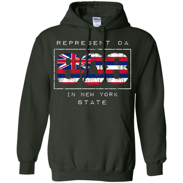 Represent Da 808 In New York State Pullover Hoodie 8 oz., Sweatshirts, Hawaii Nei All Day