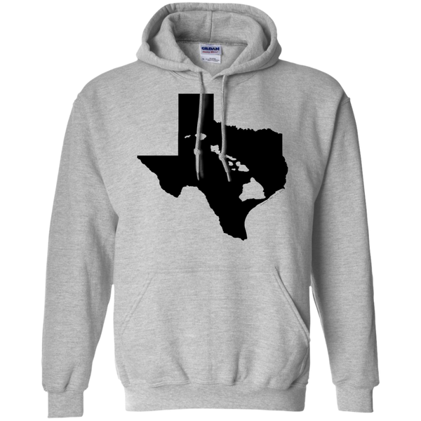 Living In Texas With Hawaii Roots Pullover Hoodie 8 oz, Hoodies, Hawaii Nei All Day, Hawaii Clothing Brands