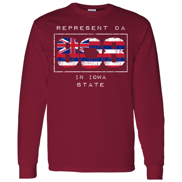 Rep Da 808 in Iowa State LS T-Shirt - Hawaii Nei All Day
