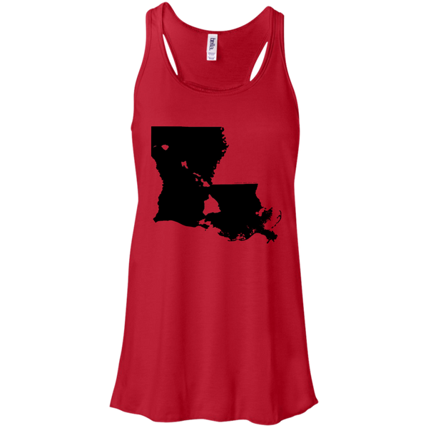 Living in Louisiana with Hawaii Roots Bella + Canvas Flowy Racerback Tank, T-Shirts, Hawaii Nei All Day
