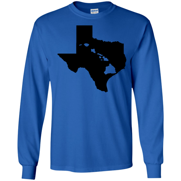 Living In Texas With Hawaii Roots LS Ultra Cotton Tshirt, Long Sleeve, Hawaii Nei All Day