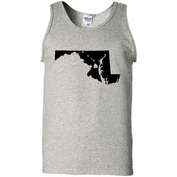 Living in Maryland with Hawaii Roots 100% Cotton Tank Top, T-Shirts, Hawaii Nei All Day