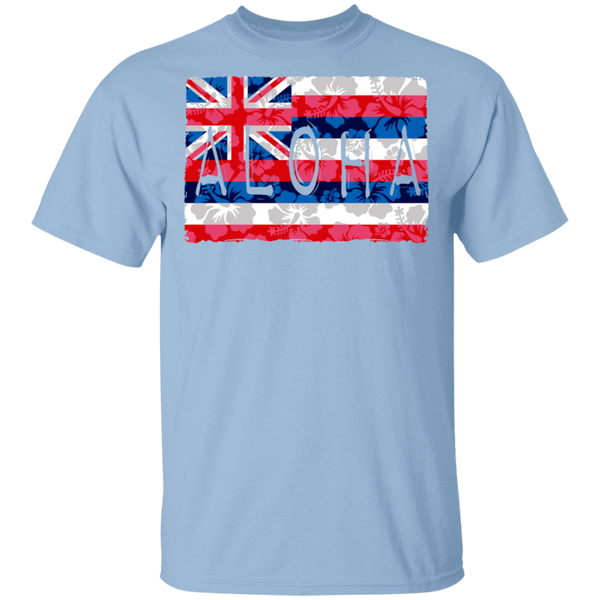 Aloha Floral Flag T-Shirt, T-Shirts, Hawaii Nei All Day
