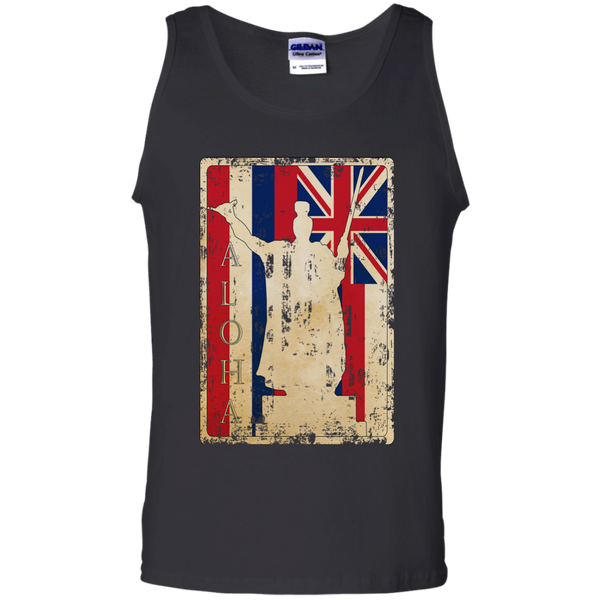 Aloha King Kamehameha 100% Cotton Tank Top, Sleeveless, Hawaii Nei All Day, Hawaii Clothing Brands