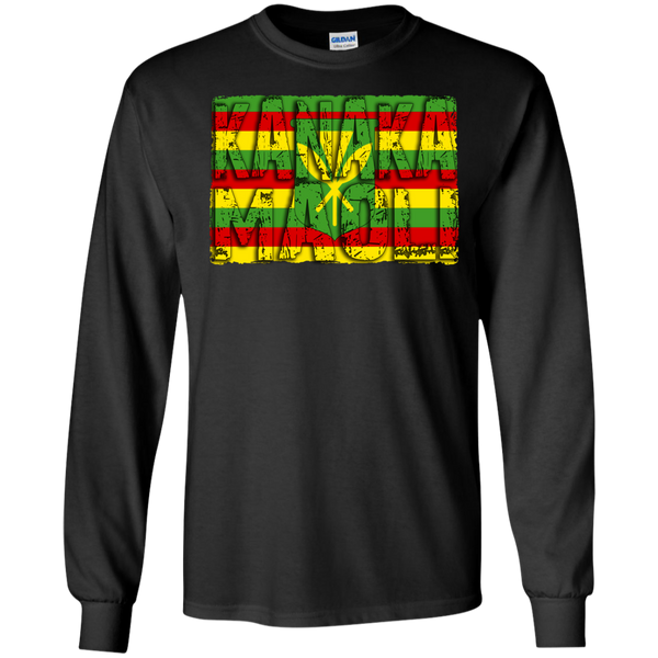Kanaka Maoli LS Ultra Cotton Tshirt - Hawaii Nei All Day