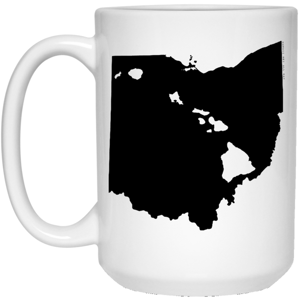 Ohio and Hawaii Roots White Mug, Apparel, Hawaii Nei All Day