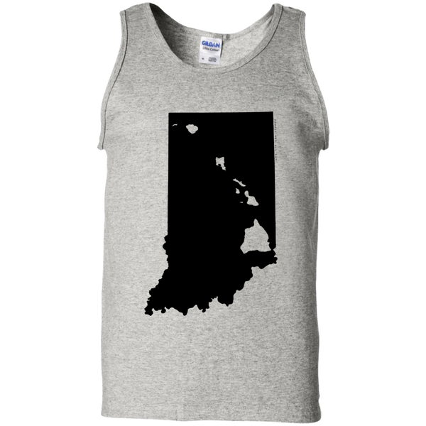 Living in Indiana with Hawaii Roots 100% Cotton Tank Top, T-Shirts, Hawaii Nei All Day