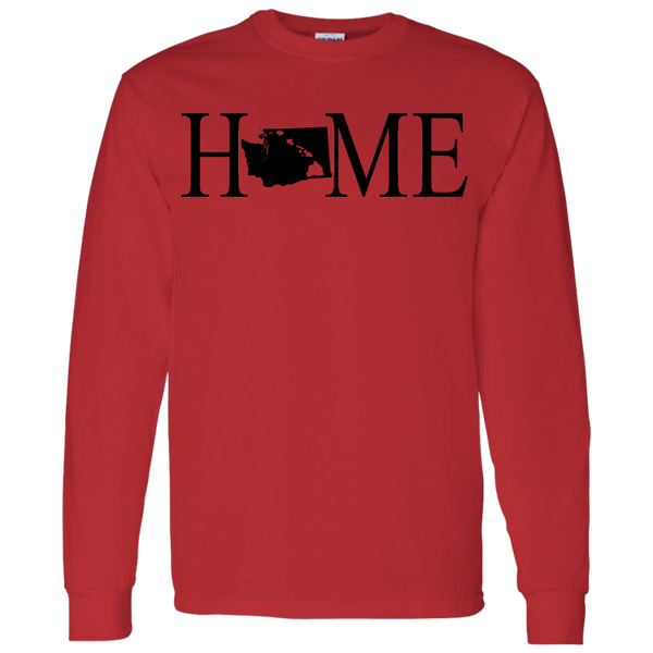 Home Hawaii & Washington LS T-Shirt 5.3 oz., T-Shirts, Hawaii Nei All Day