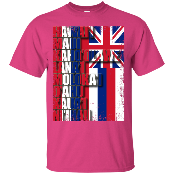 Hawaiian Island Pride Ultra Cotton T-Shirt, T-Shirts, Hawaii Nei All Day, Hawaii Clothing Brands