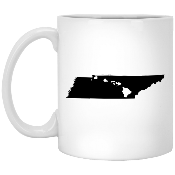 Tennessee and Hawaii Roots White Mug, Apparel, Hawaii Nei All Day