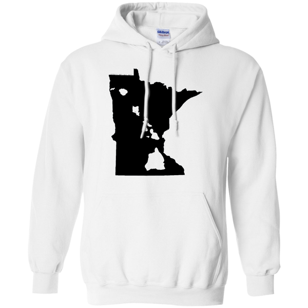 Living in Minnesota with Hawaii Roots Pullover Hoodie 8 oz., Sweatshirts, Hawaii Nei All Day, Hawaii Clothing Brands