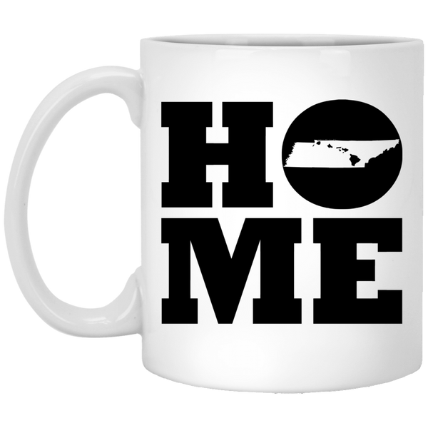 Home Roots Hawai'i and Tennessee White Mug, Apparel, Hawaii Nei All Day