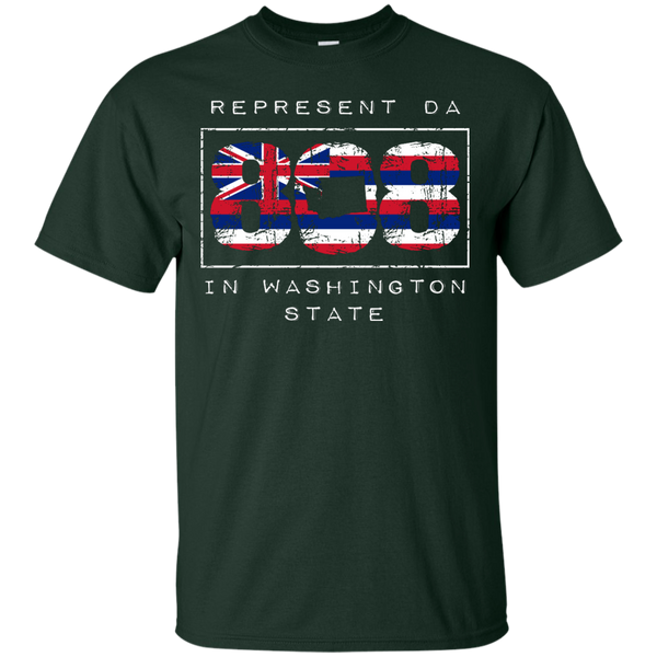 Represent Da 808 In Washington State Custom Ultra Cotton T-Shirt, Short Sleeve, Hawaii Nei All Day, Hawaii Clothing Brands