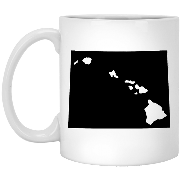 Wyoming and Hawaii Roots White Mug, Apparel, Hawaii Nei All Day