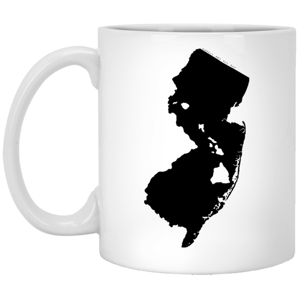 New Jersey and Hawaii Roots White Mug, Apparel, Hawaii Nei All Day