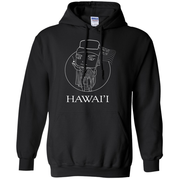 Hawai'i (chibi style King Kamehameha) Pullover Hoodie, Hoodies, Hawaii Nei All Day