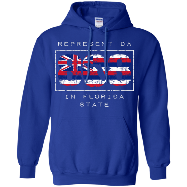 Represent Da 808 In Florida State Pullover Hoodie 8 oz, Hoodies, Hawaii Nei All Day, Hawaii Clothing Brands