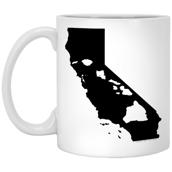 California and Hawaii Roots White Mug, Apparel, Hawaii Nei All Day