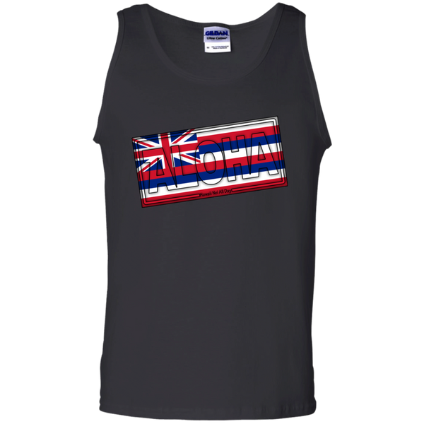 Aloha Hawai'i Flag 100% Cotton Tank Top, T-Shirts, Hawaii Nei All Day, Hawaii Clothing Brands