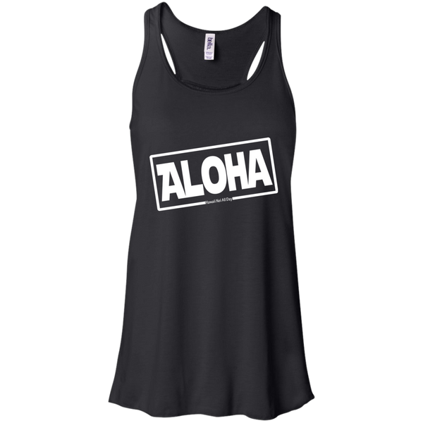 Aloha Hawai'i Bella + Canvas Flowy Racerback Tank, T-Shirts, Hawaii Nei All Day, Hawaii Clothing Brands