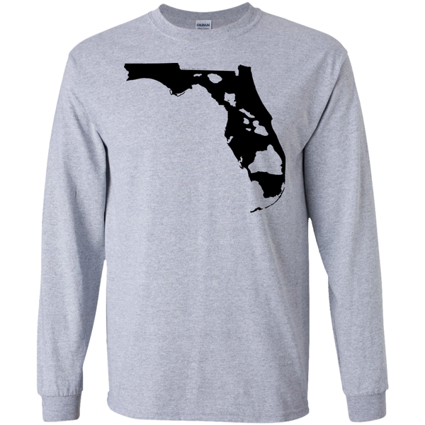 Living In Florida With Hawaii Roots LS Ultra Cotton Tshirt, Long Sleeve, Hawaii Nei All Day, Hawaii Clothing Brands