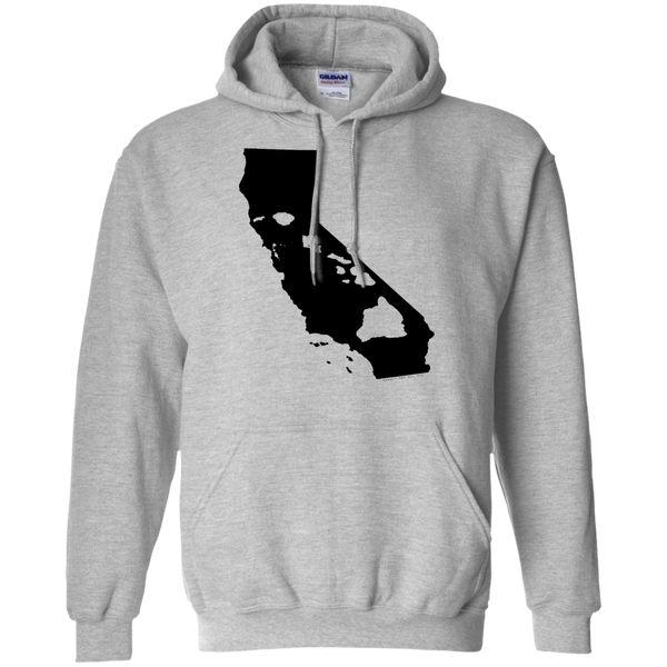Living In Cali With Hawaii Roots Pullover Hoodie 8 oz, Hoodies, Hawaii Nei All Day, Hawaii Clothing Brands