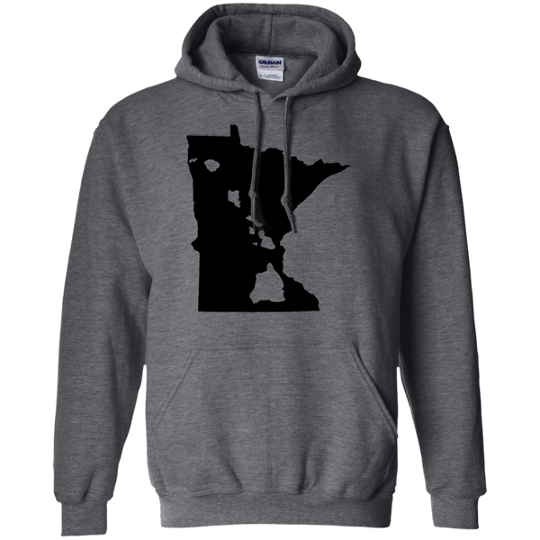Living in Minnesota with Hawaii Roots Pullover Hoodie 8 oz., Sweatshirts, Hawaii Nei All Day