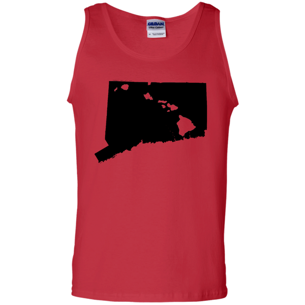 Living in Connecticut with Hawaii Roots 100% Cotton Tank Top, T-Shirts, Hawaii Nei All Day, Hawaii Clothing Brands