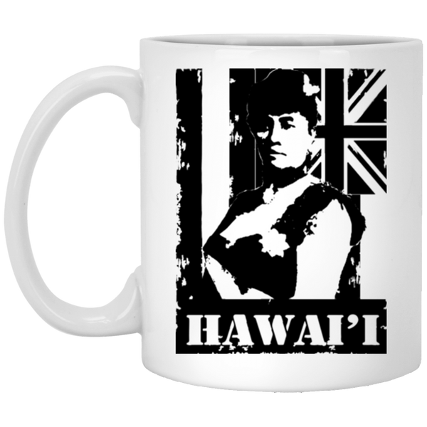 Hawai'i Queen Liliuokalani 11 oz. White Mug, Drinkware, Hawaii Nei All Day