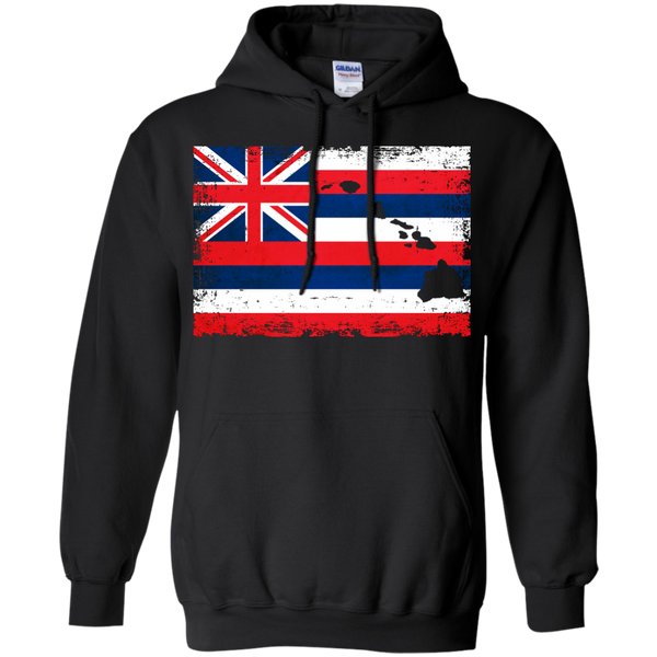 Hawaii State Flag Hawaiian Islands Pullover Hoodie - Hawaii Nei All Day