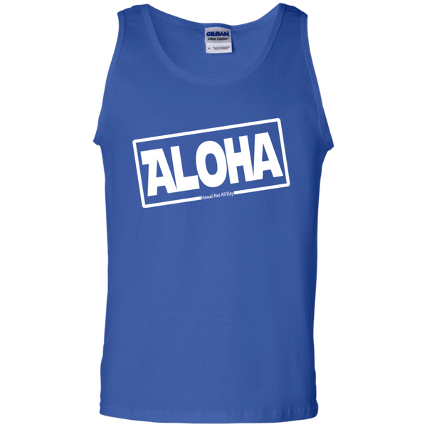 Aloha 100% Cotton Tank Top, T-Shirts, Hawaii Nei All Day