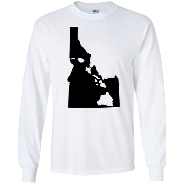 Living In Idaho With Hawaii Roots LS Ultra Cotton T-Shirt, T-Shirts, Hawaii Nei All Day