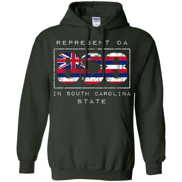 Rep Da 808 In South Carolina State Pullover Hoodie 8 oz, Hoodies, Hawaii Nei All Day, Hawaii Clothing Brands