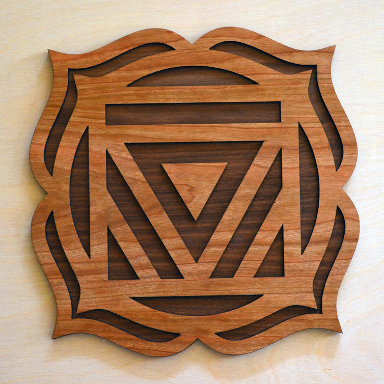 Root Chakra Wall Art Sacred Geometry Laser Cut Art Lasertrees Item Number Lt40099