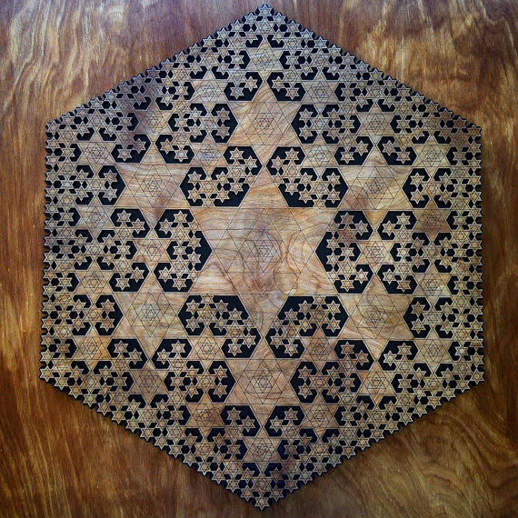 Tetrahedron Fractal Two Layer Wall Art - Sacred Geometry Home Decor - Item  Number LT40032