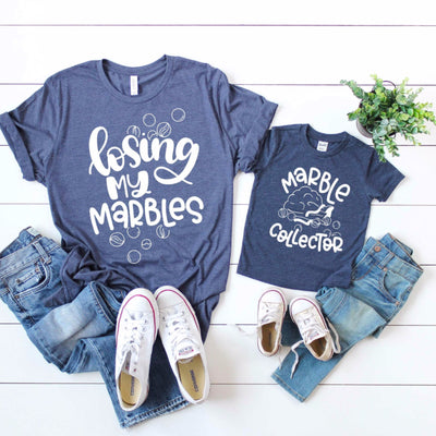 Losing my marbles matching shirt set for mommy and me set of 2