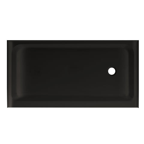 "Voltaire 60"" X 32"" Right-Hand Drain, Shower Base in Black"
