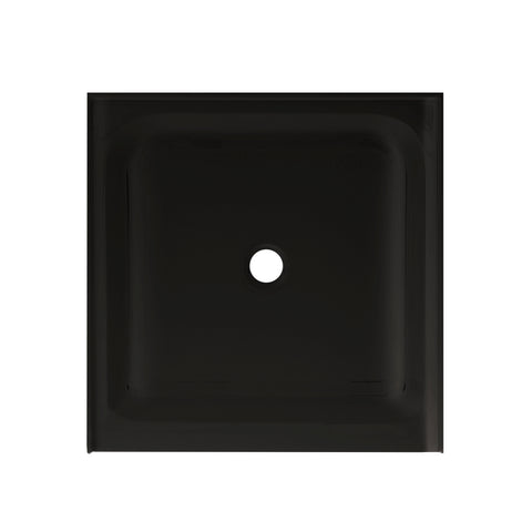 "Voltaire 36"" X 36"" Center Drain, Shower Base in Black"